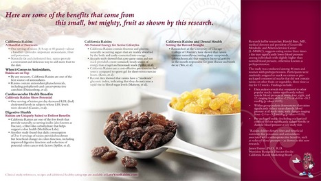 Snacking on Raisins Controls Hunger, Promotes Satiety in Children - New Study   HealthSmart   Scoop.it