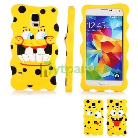 Soft Silicone 3D SpongeBob Case for Samsung Galaxy S5 | Fixing or DIY our cell phones by ourselves | Scoop.it