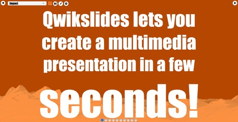 QwikSlides: Presentation creator from ClassTools.net | Collaboration tools and news | Scoop.it