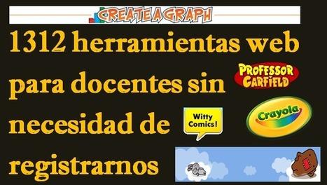 1312 herramientas web para docentes sin necesidad de registrarnos | Yo Profesor | Pedalogica: educación y TIC | Scoop.it