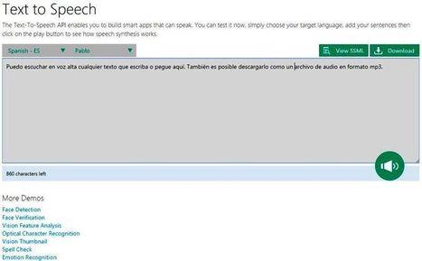 Utilidad web para convertir voz a texto y texto a voz | El Aula Virtual | Scoop.it
