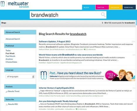 Top 10 Free Social Media Monitoring Tools - Brandwatch | Social Media Monitoring | Scoop.it
