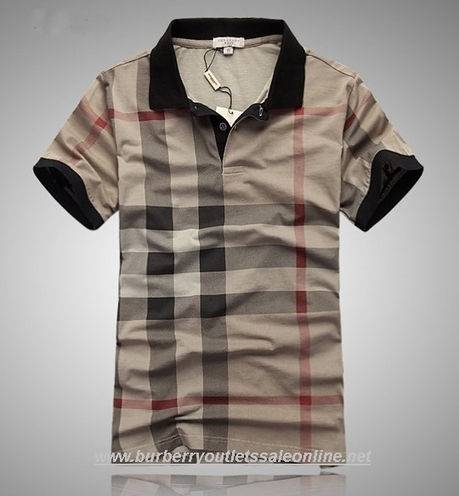 burberry cheap outlet mqgl  New Burberry Mens Grid T-Shirts 023 Khaki [B003457]