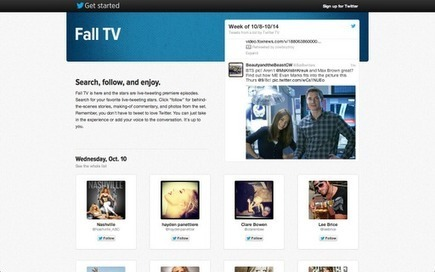 Twitter Blog: Fall TV: New shows, more Tweets | Info hors face book et twitter | Scoop.it