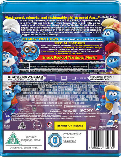 Smurfs - The Lost Village (English) movie download in hindi hd kickass 720p