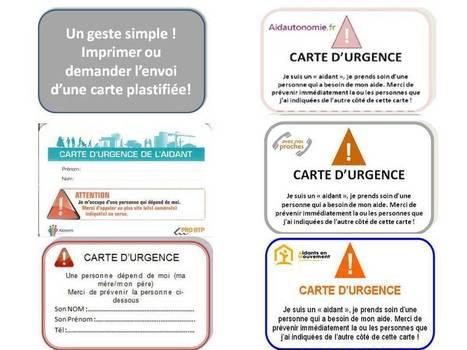 La carte d'urgence d'aidant : un geste simple que devraient faire au moins 150 000 aidants! | Silver Economie | Scoop.it