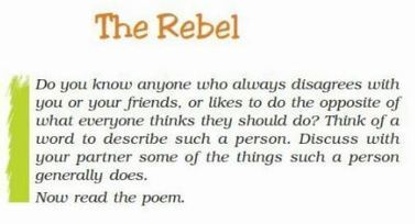 NCERT Solutions Class 7 English The Rebel Poem,