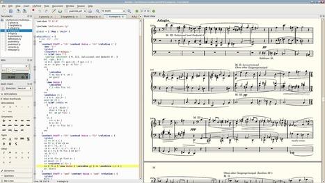 Frescobaldi : éditeur de partition musicale LilyPond - tous #Libre !   Tous #Libre   Scoop.it