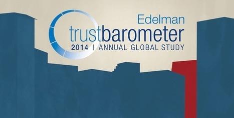 2014 Edelman Trust Barometer - Edelman | Joy and Business | Scoop.it