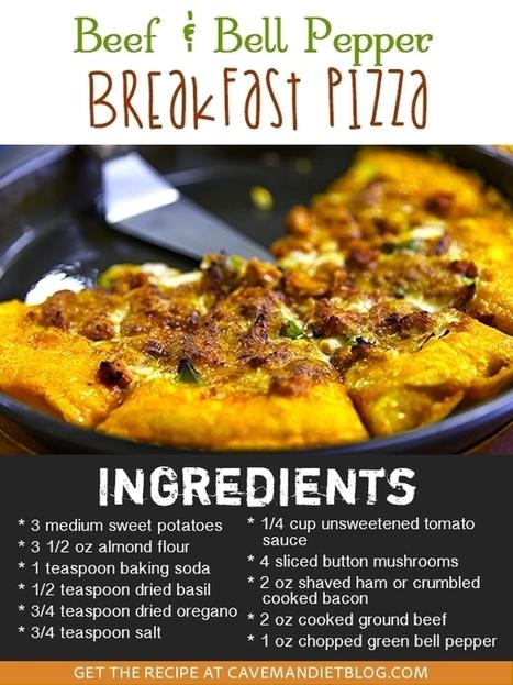 Paleo Pizza Recipe: Breakfast Pizza | Caveman Diet Blog | Healthy Eating - Recipes, Food News | Scoop.it