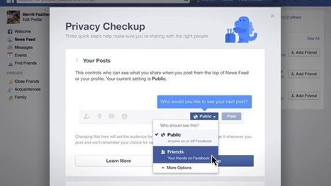 Facebook's New Privacy Checkup Tool Reviews Your Settings in 3 Steps | Bazaar | Scoop.it