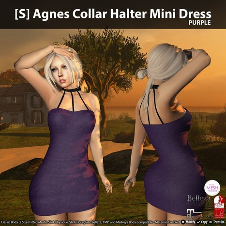 New Release: [S] Agnes Collar Halter Mini Dress by [satus Inc] | Teleport Hub - Second Life Freebies | Second Life Freebies | Scoop.it