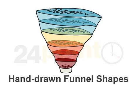 Sales Funnel - Hand-drawn PowerPoint Shapes | LinkedIn marketing for more more leads, more sales, more and better profit | Scoop.it