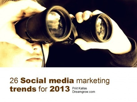 26 Social Media Marketing Trends for 2013 | Dreamgrow | The Good Scoop | Scoop.it