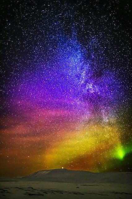 Aurora Borealis Milky Way endless stars, Iceland | Planet Earth | Scoop.it