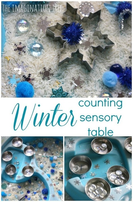Winter Counting Sensory Table - The Imagination Tree | Learn through Play - pre-K | Scoop.it