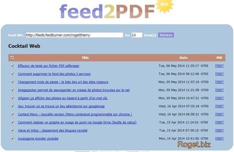 Transformer des flux RSS en PDF : ressources intéressantes | netnavig | Scoop.it