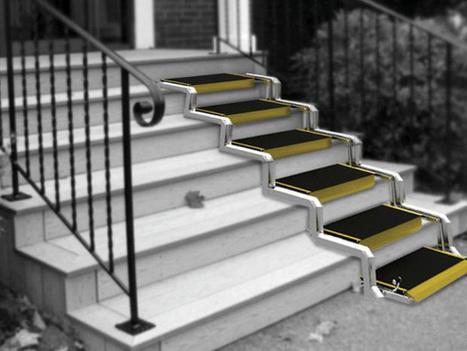 Un fantastique concept d'escalier convertible en rampe d'accès pour les handicapés | Histoire8 | Scoop.it