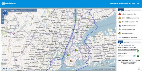 Con Edison Storm Center   Mapping NYC hurricane   Scoop.it