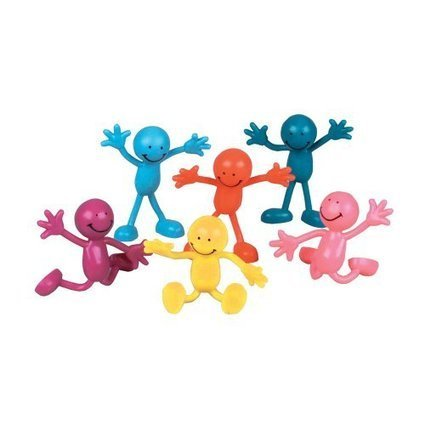 Twist and Bend These Smiling Treats In A Variety Of Different Poses Striped Candy Bendables 1Dz.