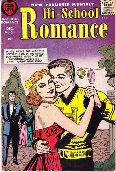 "High School Romance 58, Hi, Jack Kirby art, True Love comic book, Girls, Young Heart Throbs, Silver Age. 1956 Harvey Comics in FN+ (6.5) | Jack ""King"" Kirby | Scoop.it"