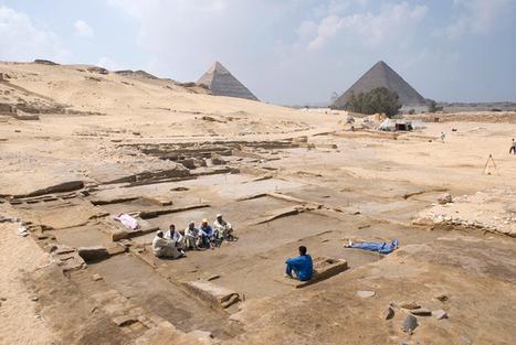 Découverte, près des pyramides de Guizeh, des vestiges d'une grande maison (21 pièces), vraisemblablement habitée par de hauts fonctionnaires il y a 4.500 ans. | Aladin-Fazel | Scoop.it