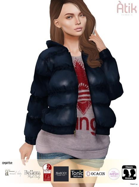 Jacket November 2018 Group Gift by AtiK   Teleport Hub - Second Life  Freebies 89db074459a