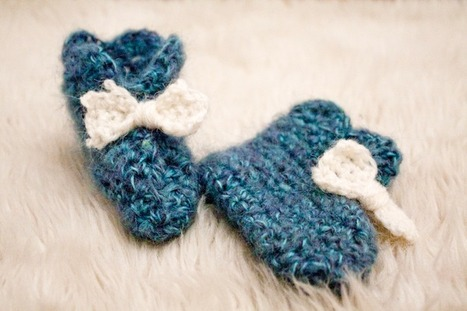 Petits chaussons faciles au crochet -  RoseChiffon   Tricot pour  tout-petits bébés   977338b867f