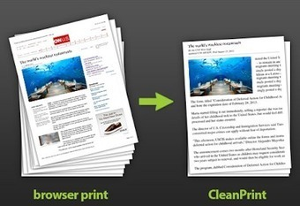 Free Technology for Teachers: Clean Print Helps You Save Ink and Paper | Hamilton West Shared Resources | Scoop.it