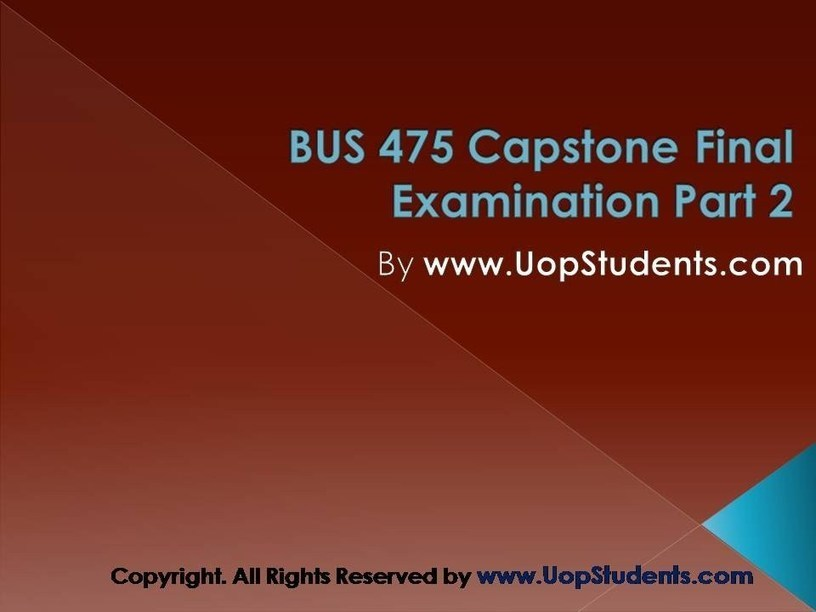 u of p capstone final exam