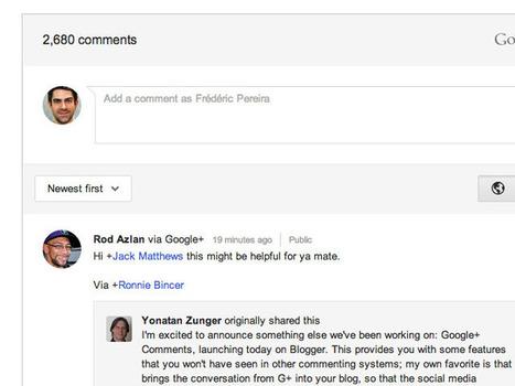 [Astuce] Intégrer les commentaires Google+ à n'importe quel site | Social Media Curation par Mon Habitat Web | Scoop.it