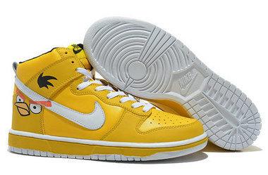 watch c0795 d3873 ... australia men nike sb dunk angry bird high premium shoes yellow cartoon nike  dunk angry birds