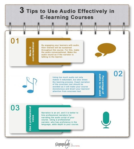 3 Tips to Use Audio Effectively in E-learning Courses – An Infographic | EdTech 2.0 | Scoop.it