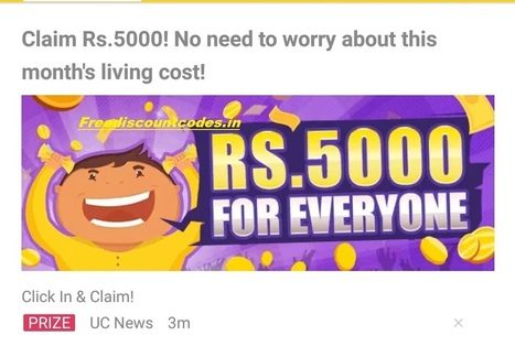 (Proof) Put UC News Reference Code And Get Rs.5000 In Bank Account | Coupons, deals & offers, free recharge, unlimited money tricks, loot deals etc. | Scoop.it