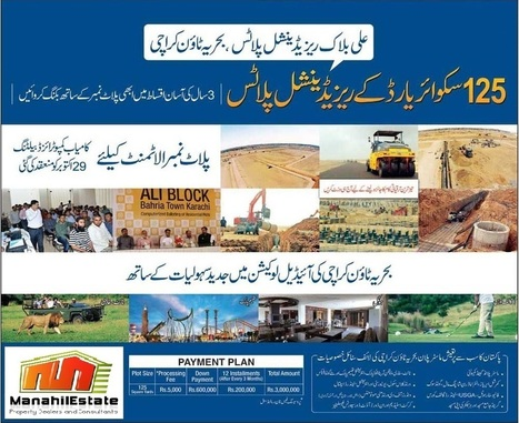 Ali Block Residential Plots, Bahria Town Karachi, Booking Available | Islamabad Real Estate | Scoop.it