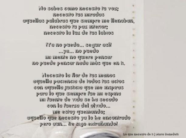 Una Docena De Poemas De Mario Benedetti Para Su