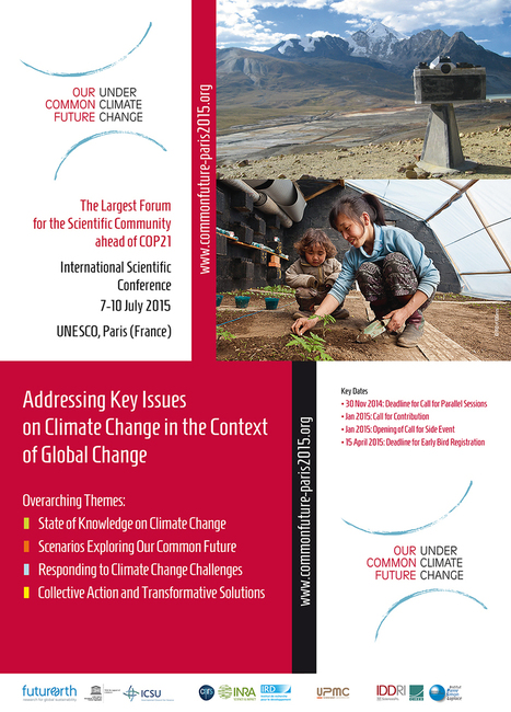 Conference Our Common Future under Climate Change | Paris July 7-10, 2015 | FTN Global & Overseas | Scoop.it