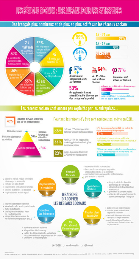 Réseaux sociaux : une aubaine pour les entreprises - LK Conseil | 694028 | Scoop.it
