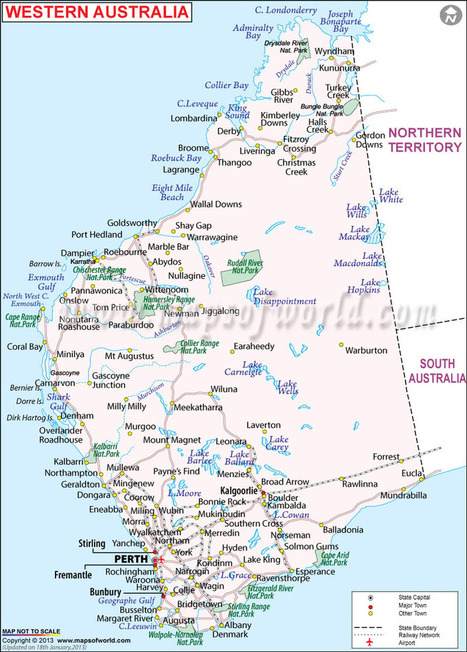 Australian State Map.Map Of Western Australia State In Maps Scoop It