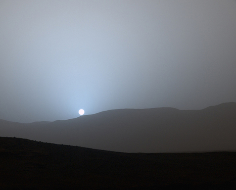 This blue sunset is what @elonmusk will see if he reaches Mars   pixels and pictures   Scoop.it