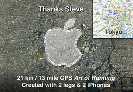 Man Runs Around Tokyo, Creates Giant Apple Logo Tribute to Steve Jobs | Locative Media | Scoop.it