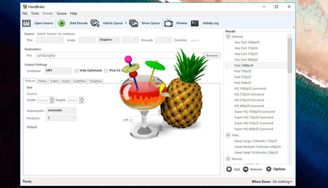 Nuevo HandBrake 1.0.0: un genial conversor de vídeo gratis y open source | TIKIS | Scoop.it