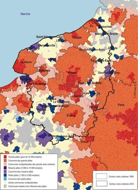 Insee - Territoire - Le nouveau zonage en aires urbaines de 2010 : l'espace périurbain s'étend encore | twittgéo | Scoop.it