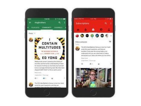 Pour devenir un vrai réseau social, YouTube lance Community | Web 2.0 et société | Scoop.it