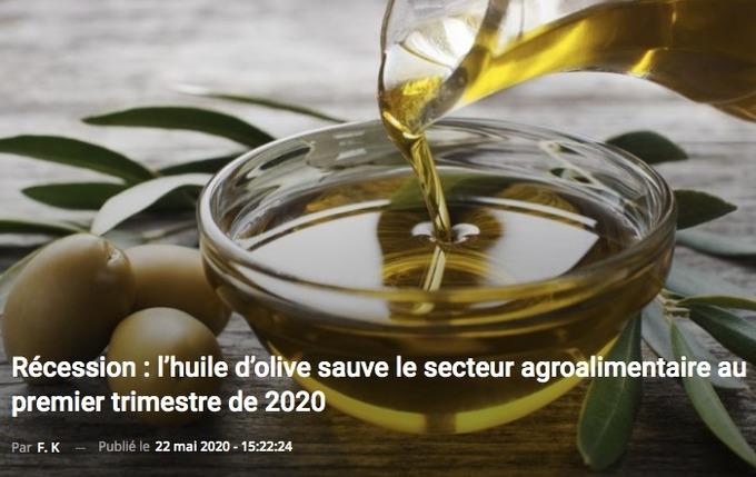Tunisie : l'huile d'olive sauve le secteur agroalimentaire au premier trimestre de 2020