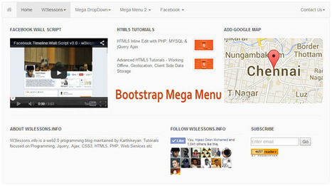 Responsive Bootstrap MegaMenu with Contact Form...
