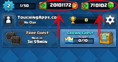 free gems clash royale hack