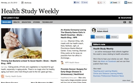 July 23 - Health Study Weekly is out | Health Studies Updates | Scoop.it