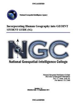 SECRET-National Geospatial-Intelligence Agency StudentGuide | Geospatial Industry | Scoop.it