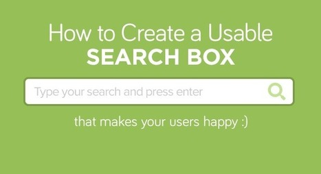 How to create a usable search box   Usability and UX   Scoop.it